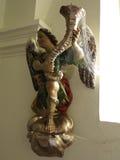 Pajęczyna zakrywająca antykwarska statua Zdjęcia Stock
