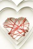 pajęczyny bawełna tworzy serca żelazo Zdjęcia Royalty Free