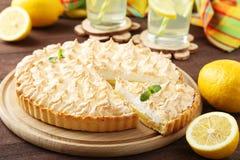 Paj för citronmaräng Arkivbild