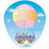 Pająki w balonie royalty ilustracja