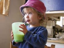 Paja 2 de la muchacha Imagen de archivo libre de regalías