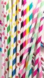 Paja coloreada Fotos de archivo libres de regalías
