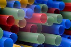 Paja colorida Foto de archivo libre de regalías