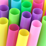 Paja colorida del cóctel, tiro macro Fotografía de archivo