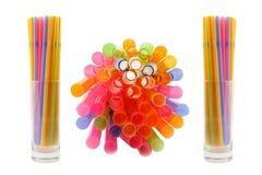 Paja de beber colorida Imagenes de archivo