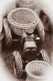 Paja del tractor Foto de archivo