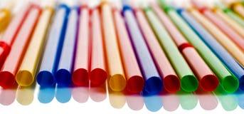 Paja multicolora del coctel Fotos de archivo libres de regalías