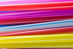 Paja plástica de consumición Fotos de archivo libres de regalías