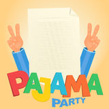 Pajama party concept Royalty Free Stock Image