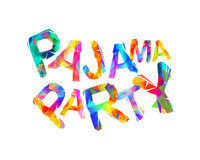 Pajama party. Vector triangular letters Royalty Free Stock Photos