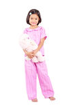 Pajama And Teddy Bear Stock Image