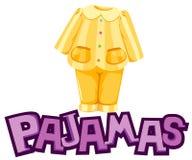 Pajamas. Illustration of isolated letter of pajamas on white background Stock Photo