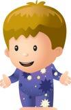 Pajamas. A little kid wearing pajamas Royalty Free Stock Photo