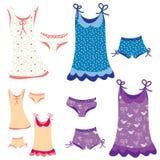 Pajamas funny set with patterns Royalty Free Stock Image