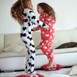 Pajamas party Stock Images