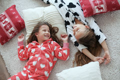 Pajamas party Stock Photography