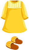 Pajamas with slipper. Illustration of isolated  pajamas with slipper on white Royalty Free Stock Photo
