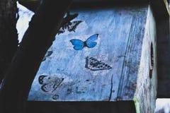 Pajarera colorida en el árbol Nidal Fotos de archivo libres de regalías