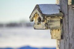 Pajarera curtida en invierno Fotografía de archivo