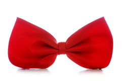 Pajarita roja aislada Imagen de archivo