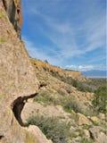 Pajarito plateau blisko Los Alamos, Nowy - Mexico obraz stock