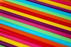 Pajas de beber coloridas Fotografía de archivo libre de regalías