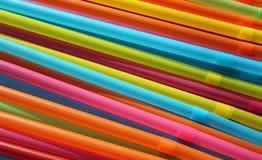 Pajas de beber coloridas Imágenes de archivo libres de regalías