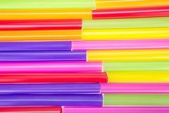 Pajas de beber coloridas abstractas Fotos de archivo libres de regalías