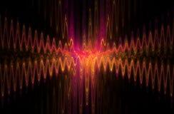 Pajęczyn kłębowisk rozdroża abstrakcjonistyczna sinusoidalna fala Zdjęcia Royalty Free