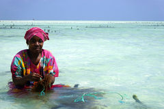 Paje Beach. One of the more popular Southeastern beach towns on Zanzibar is Paje Stock Images