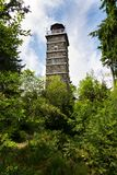 Pajndl lookout tower at Tisovsky Mount, Krusne Hory, Czech Republic. Pajndl lookout tower at top of Tisovsky Mount in Krusne Hory, Bohemia, Czech Republic Stock Photo