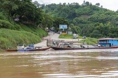 Pak Beng, Mekong river, Laos Royalty Free Stock Images