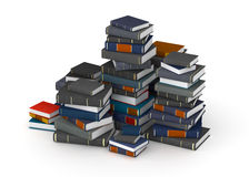 Pak of books. Many books, stacked in columns stock image