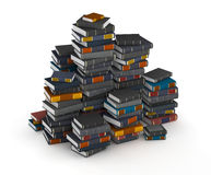 Pak of books. Many books, stacked in columns royalty free stock photo