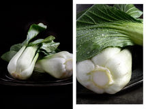 Pak Choi Montage Royalty Free Stock Photography