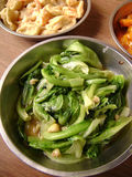 Pak Choi With Oyster Sauce Stock Photo