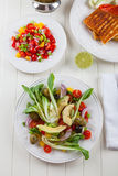 Pak choi salad Stock Photo
