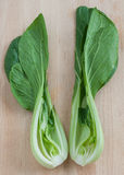 Pak choi in half Stock Images