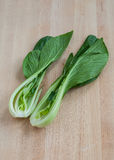 Pak choi in half Royalty Free Stock Images
