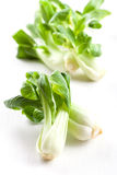 Pak Choi on wooden table Stock Images