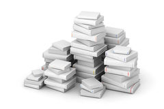 Pak de libros en blanco Imágenes de archivo libres de regalías