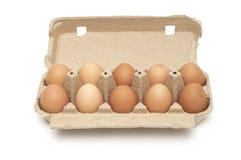 Pak eieren stock afbeelding
