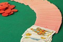 Pak of kaarten royalty-vrije stock foto's