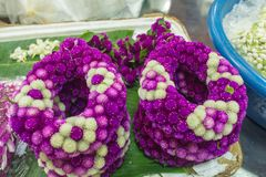 Pak Khlong Flower Market in Bangkok. Thailand Royalty Free Stock Photo