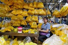 Pak Khlong Talad kwiatu rynek w Bangkok Zdjęcia Royalty Free