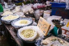 Pak Khlong Talat, mercado da flor, Banguecoque, Tailândia Imagem de Stock Royalty Free