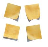 Pak kleine die stukken van document door een kleefstof worden gehouden royalty-vrije stock foto's
