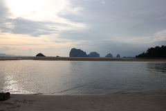 Pak Meng Beach alla provincia di Trang Fotografia Stock Libera da Diritti