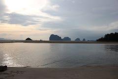Pak Meng Beach på det Trang landskapet Royaltyfri Fotografi