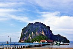 Pak Meng port. In thailand Royalty Free Stock Photo